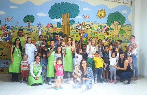 휴롬, 콜롬비아 '어린이 영양개선 캠페인' 펼쳐