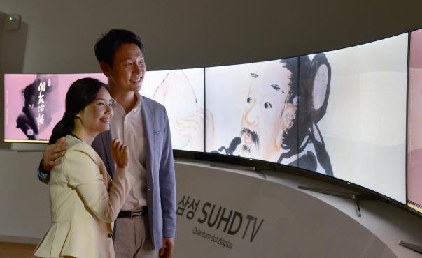 이데일리 - 삼성전자, 미인도 등 풍속인물화 4K UHD 영상으로 재현