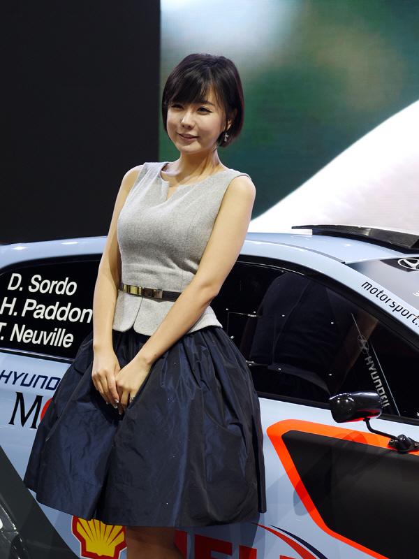 레이싱 모델 류지혜, '현대자동차 부스에 어서 오세요'