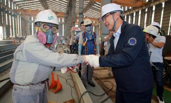 세진중공업 방문한 이기권 고용노동부장관