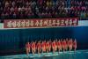 [포토] 빨간 수영복 입은 북한 `수중체조무용단`