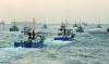 [포토] 바다모래 채취 중단 해상시위 나선 어선들