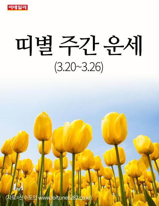 [카드뉴스] 띠별 주간 운세(3.20~3.26)