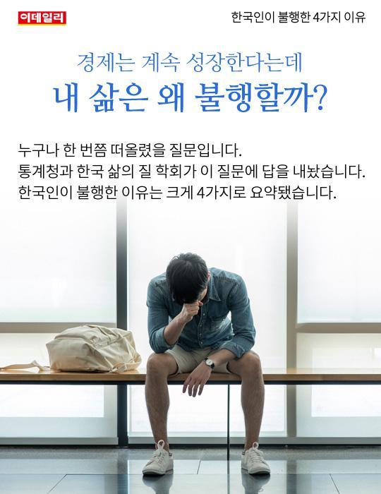 [카드뉴스] 한국인이 불행한 4가지 이유