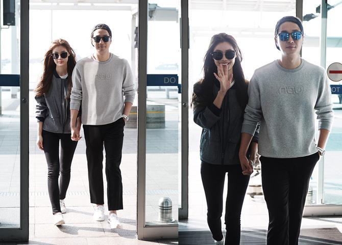 [패션in 공항] 윤소이♥조성윤, 커플 공항패션의 정석