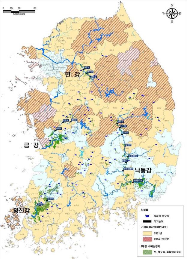 `4대강 물, 가뭄시 생활-공업-농업-하천유지 용수 순으로 활용`
