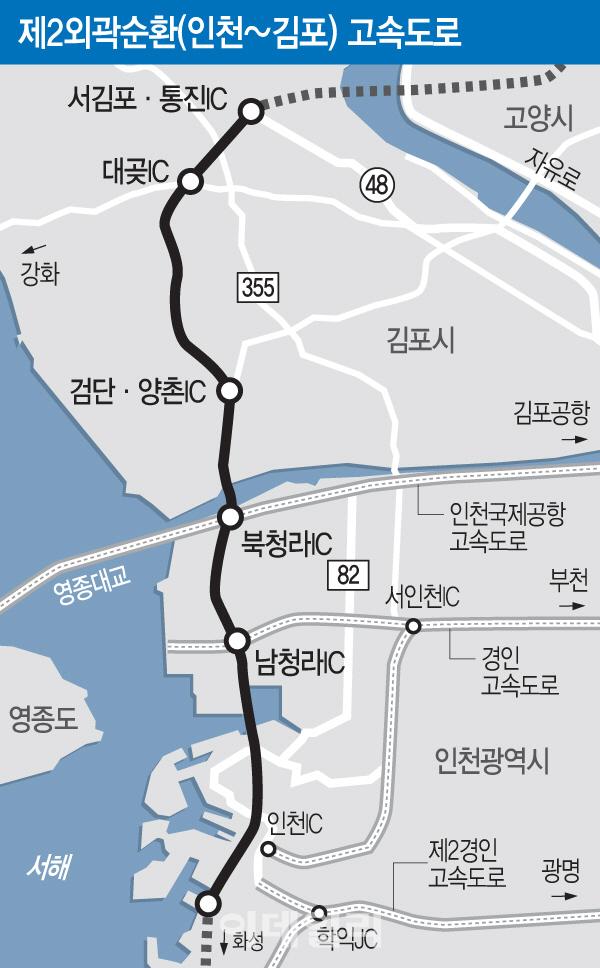 제2외곽순환 인천~김포 23일 개통…김포한강·청라 부동산 기대감↑