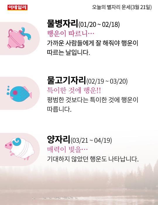 [카드뉴스]오늘의 별자리 운세(3월 21일)
