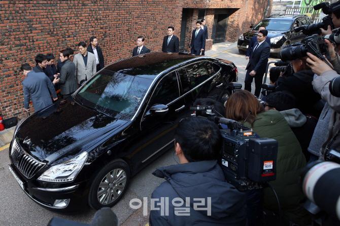[포토]박근혜 전 대통령, 검찰 출발