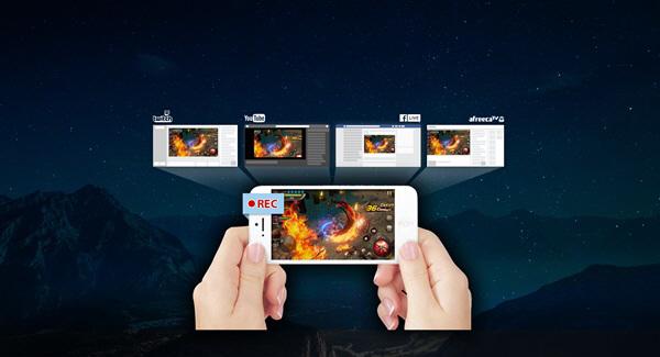 `제노스캐스터` 스마트폰 게임 화면 녹화-방송 동시 지원