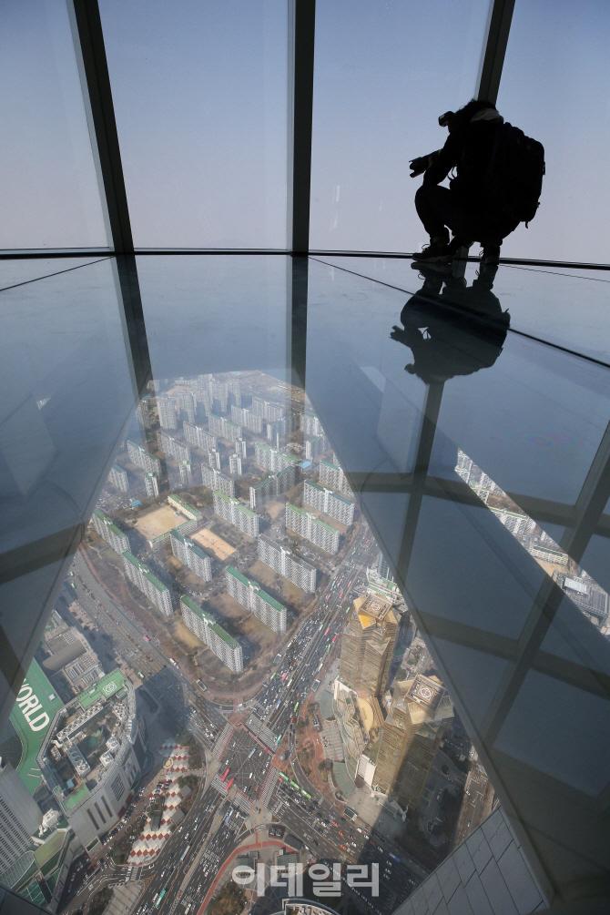 [포토]세계 3위 높이 전망대, `롯데월드타워 서울 스카이`