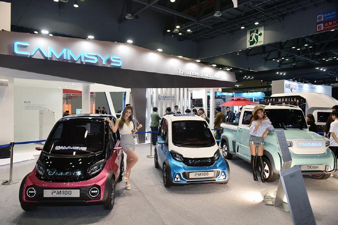 [서울모터쇼] 캠시스, 2018년에 초소형 전기차 `PM100` 선보인다