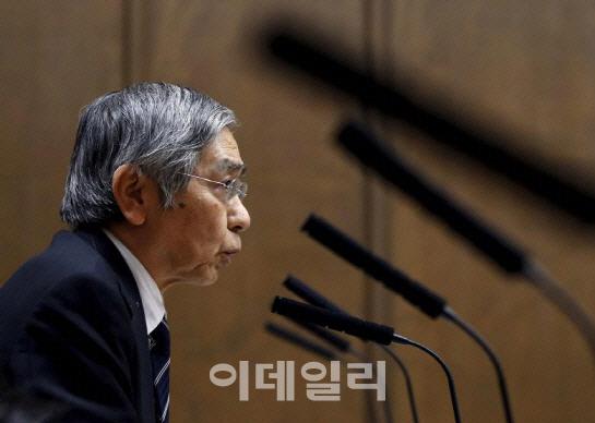 구로다 일본銀 총재 `당분간 현재 자산매입 속도 유지하겠다`
