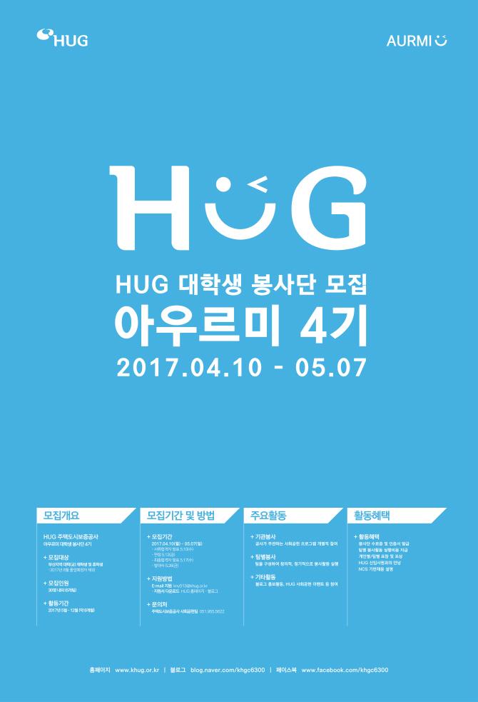 HUG, 대학생 봉사단 `아우르미 4기` 모집
