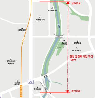 용인 죽전이마트~성남시경계 주민쉼터 조성