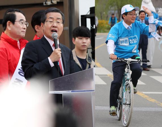 흔들리는 바른정당…`유혹`하는 홍준표
