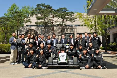 국민대, 교내 자동차동아리 `세계 자동차 대회 출정식` 개최