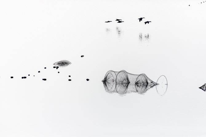 [포토]  대한민국국제포토페스티벌 - 이건효 겨울시초(詩抄) - 湖畔