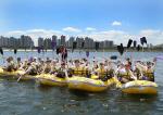 한국얀센 창립 34주년 기념 '팀 얀센' 한강 도하 래프팅 체험