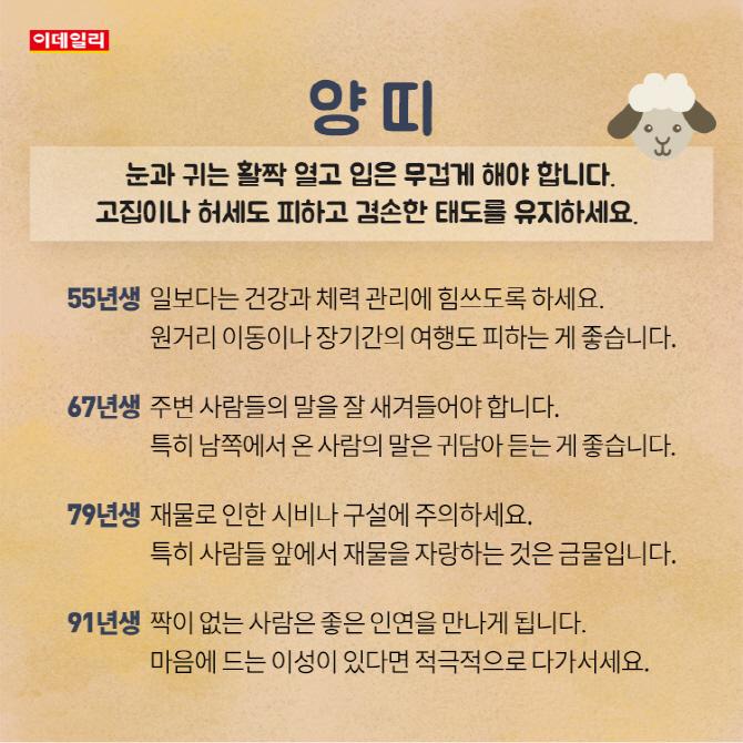 [카드뉴스] 7월 셋째 주 띠별 운세