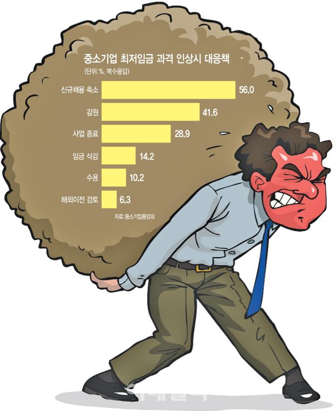 [최저임금 파장]역대 최대 인상…中企·소상공인 `초비상`