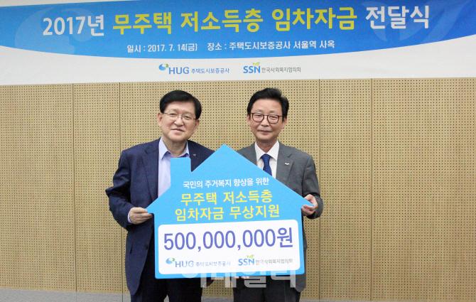 HUG, 무주택 저소득층 임차자금 5억 지원..주거복지 강화