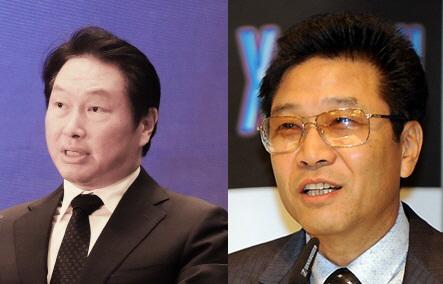 최태원-이수만, 수백억원대 상호 출자제휴..한류 기반 사업 강화