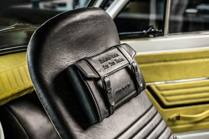 [포토] 피아트 126p를 위해 고급스럽게 제작된 가죽 가방