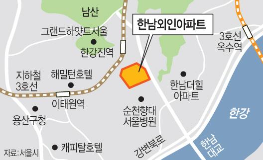 한남동 외인아파트 부지, 최고급 주택 '나인원 한남' 개발 본격화
