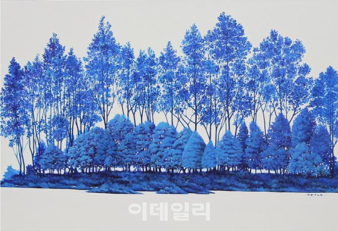 [e갤러리] 대통령 부부 방미길 따랐던 그 푸른숲…정영환 `그저 바라보기-휴`