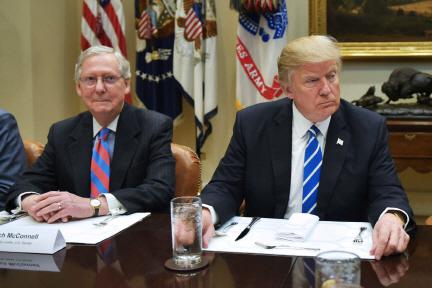 `트럼프, 정치 경험 부족` vs `매코널 7년 동안 뭐했나`