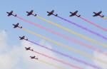 중국 인민해방군 공군 창설기념일 축하 에어쇼
