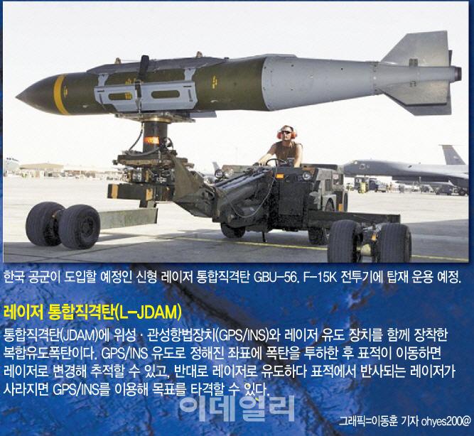 [단독]北 이동식 미사일 발사대 잡는 레이저 유도폭탄, 내년 실전배치