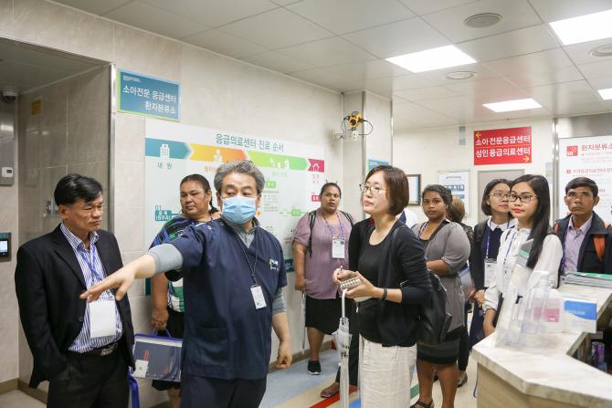 순천향 천안병원, 아시아 8개국 보건의료 전문가 견학