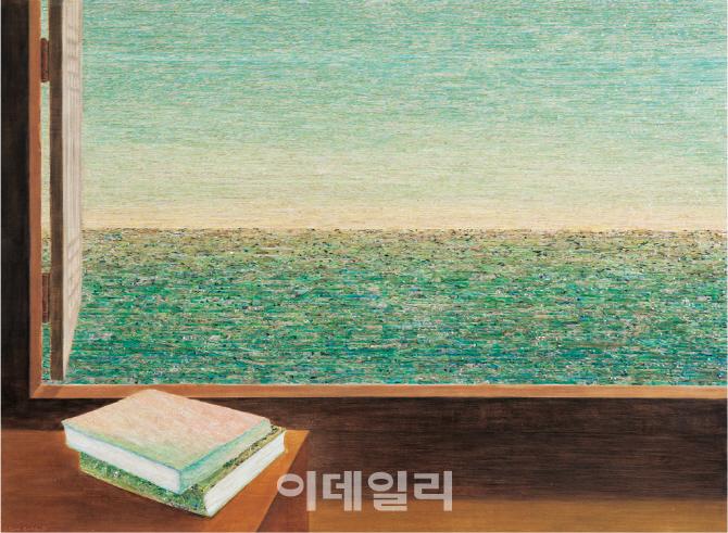 [e갤러리] 나무결에 자개 박으니 `비취색 바다`…김덕용 `관해음`