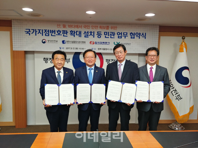 LX, 행안부·한전·시설물관리협회와 국가지점번호 확대 MOU