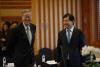 [포토]인사 나누는 한·중·일 중앙은행 총재들