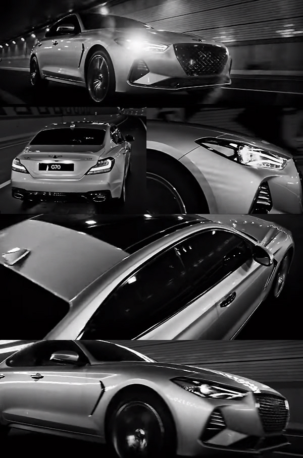 `C클래스·3시리즈 기다려`…제네시스 G70 `고급스러운 세련미` 공개