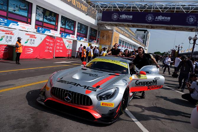 [마카오 GP] 코스인을 위해 대기 장소로 이동 중인 메르세데스-AMG GT3 레이스카
