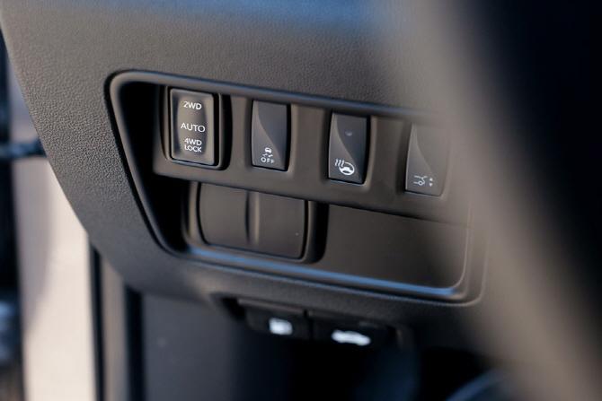 르노삼성 QM6에 자리한 AWD 시스템 구동 버튼