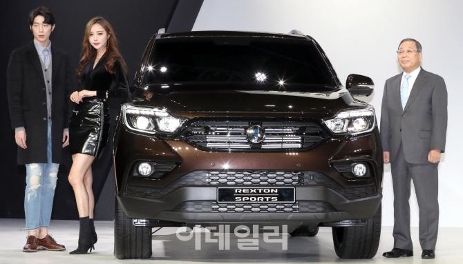 쌍용자동차, 오픈형 '렉스턴스포츠' 출시…연 3만대 목표