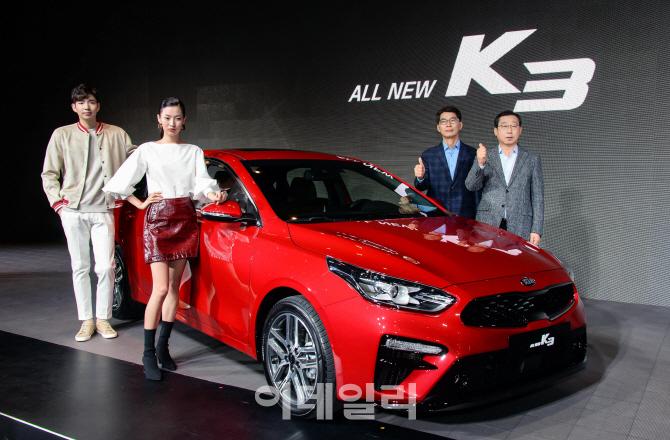 """기아차, 신형 K3 출시…""""소형 SUV로부터 시장 재탈환""""(종합)"""