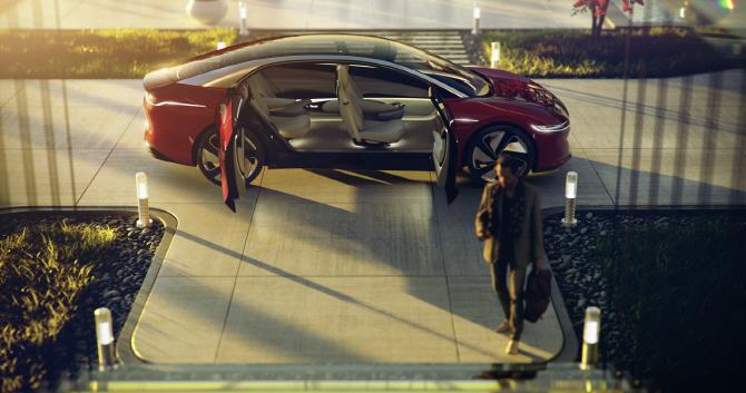 폭스바겐 'I.D 비전', 레벨5 수준의 자율주행차