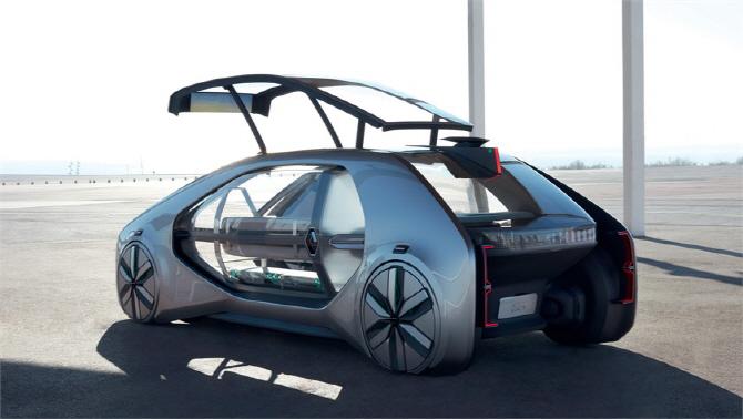 르노 '이지-고', 미래지향적인 디자인