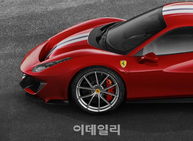 미쉐린, 신형 페라리 488 피스타에 초고성능 타이어 공급