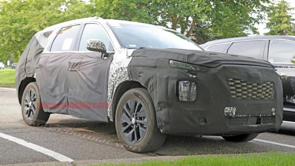 현대차 대형 SUV 팔리세이드 인테리어 포착..콘셉카 그대로