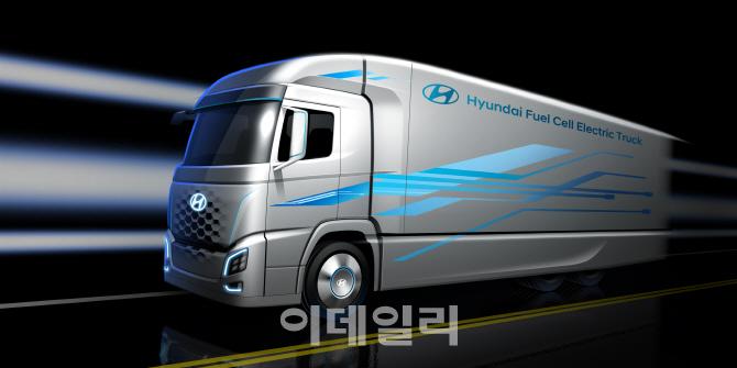 현대차, 수소전기트럭 렌더링 이미지 공개