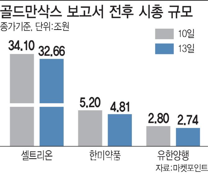 `골드만 쇼크` 한달..셀트리온 주가는 더 올랐다