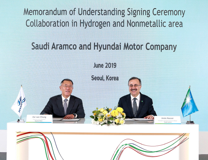 현대차, 사우디 아람코와 수소에너지 확산 `맞손`