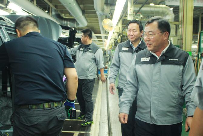 예병태 쌍용차 대표, 추석앞두고 생산현장 방문